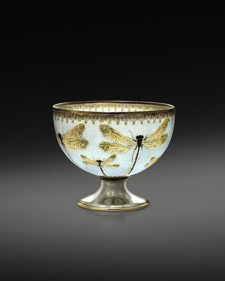 """""""Dragonfly"""" plique-a-jour bowl"""
