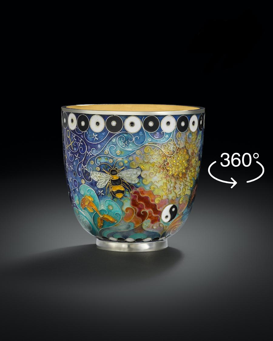 """""""Yin Yang"""" silver cup"""